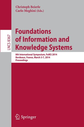 Foundations of Information and Knowledge Systems