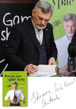 Knyga apie ypač tyrą. Pirmasis lietuviškas alyvuogių aliejaus vadovėlis. Su autografu!