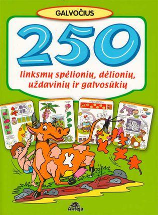 250 linksmų spėlionių, dėlionių, uždavinių ir galvosūkių (žalia)
