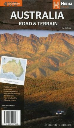Australia Road & Terrain Map 1 : 5 000 000