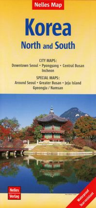 Nelles Map Korea, North and South 1:1 500 000