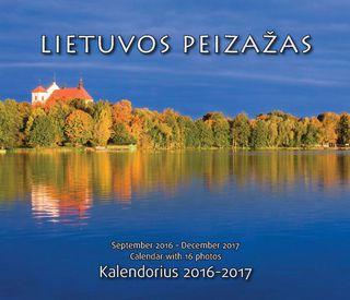 """2017 metų pastatomas kalendorius """"Lietuvos peizažai"""""""