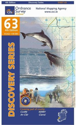 Irish Discovery Series 63. Clare, Kerry 1 : 50 000