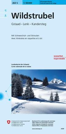 Swisstopo 1 : 50 000 Wildstrubel Skitourenkarte