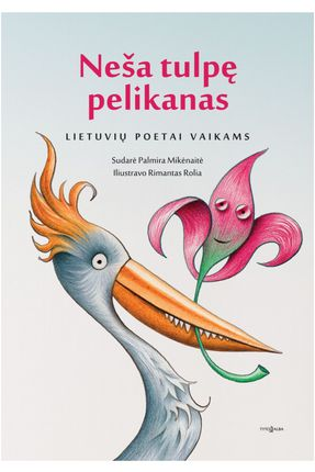 Neša tulpę pelikanas