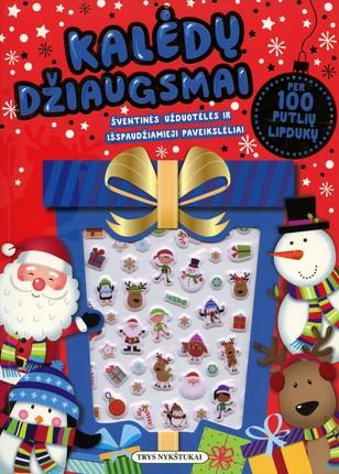 Kalėdų džiaugsmas: šventinės užduotėlės ir išspaudžiamieji paveikslėliai