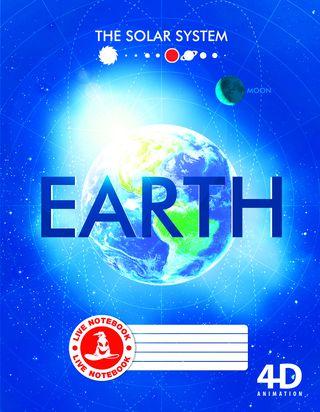Atgyjantis 4D sąsiuvinis Žemė (dideliais langeliais, 48 l.)