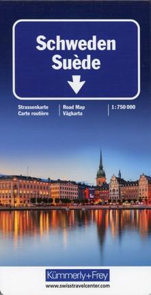 Schweden Strassenkarte1:750 000