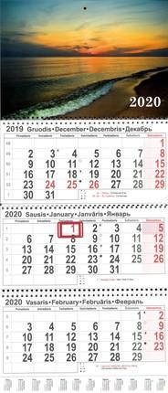 2020 m. sieninis 3 dalių kalendorius (jūra)