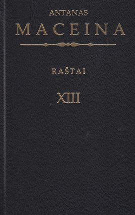 Raštai XIII tomas