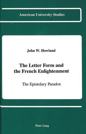 The Letter Form and the French Enlightenment