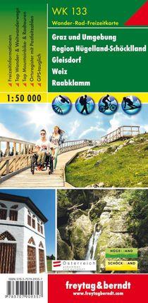 Graz und Umgebung - Region Hügelland-Schöcklland - Gleisdorf - Weiz  - Raabklamm 1 : 50 000. WK 133