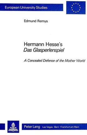 """Hermann Hesse's """"Das Glasperlenspiel"""