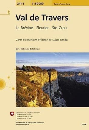 Swisstopo 1 : 50 000 Val de Travers