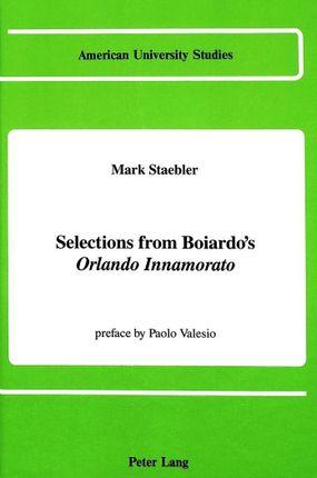 Selections from Boiardo's Orlando Innamorato