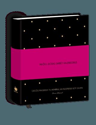 MAŽAS JUODAS DARBO KALENDORIUS: stilingiausia metų darbo knyga didiems 2017 m. tikslams ir drąsioms svajonėms! Idealaus dydžio (visa savaitė prieš akis!), prabangaus dizaino, su įkvepiančiomis NAUJOMIS stiliaus ikonos COCO CHANEL mintimis