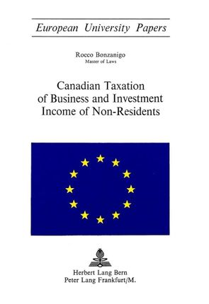 Canadian Taxation of Business and Investment Income of Non-Residents