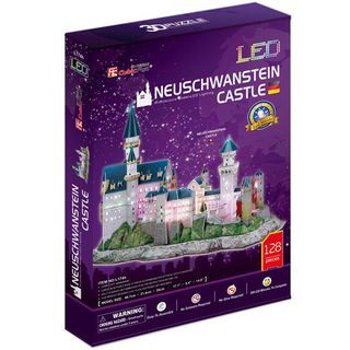 3D dėlionė: Neuschwanstein Castle (su LED apšvietimu)
