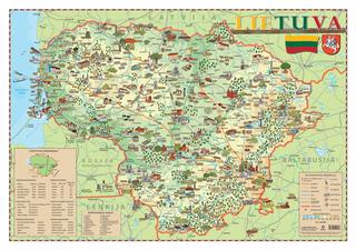 Lietuva. Iliustruotas žemėlapis vaikams