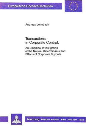 Transactions in Corporate Control