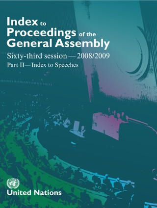 Index to Proceedings of the General Assembly 2008/2009