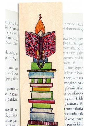 """Medinis knygų skirtukas """"Moksliuko svaja"""""""