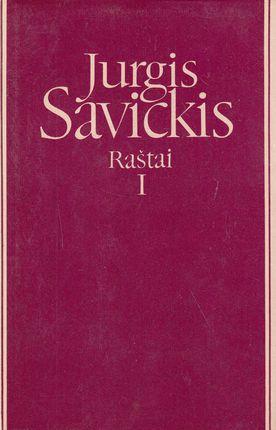 Jurgis Savickis. Raštai I tomas