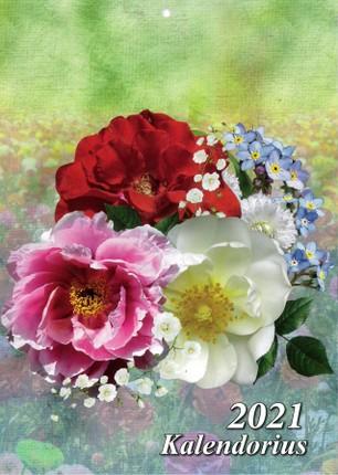 2021 m. sieninis kalendorius Gėlės (A4)