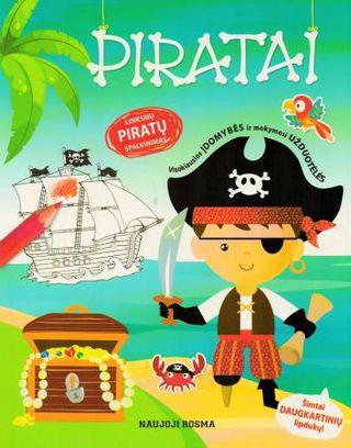 Piratai. Spalvinimo ir užduotėlių knygelė