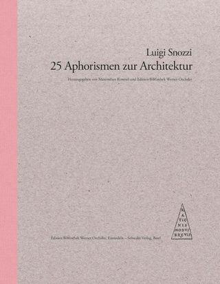 25 Aphorismen zur Architektur