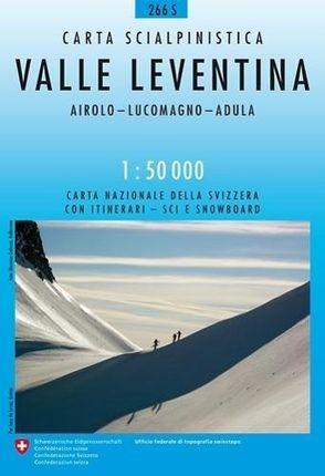 Swisstopo 1 : 50 000 Valle Leventina Ski