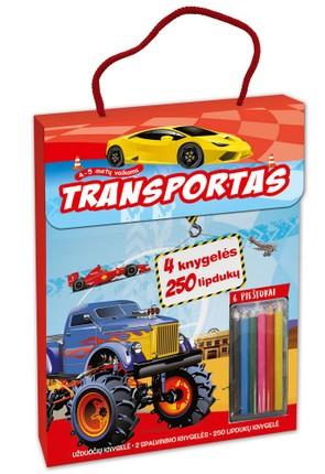 Transportas: 4 knygelės ir 6 spalvoti pieštukai