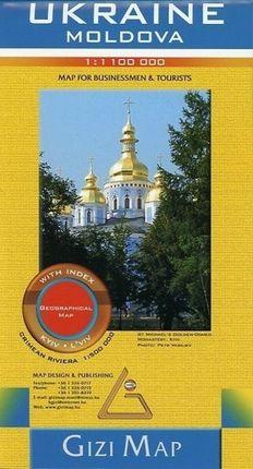 Ukraine & Moldovia Road Map 1 : 1 100 000