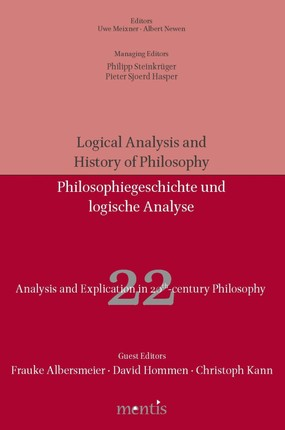 Analysis and Explication in 20th Century Philosophy