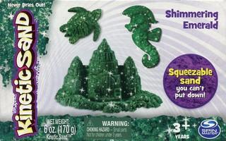 Kinetinis smėlis su blizgučiais (žalias, 170 g)