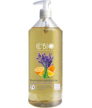 CEBIO Dušo ir plaukų šampūnas 2in1 su apelsinų ir levandų aliejais, 1000ml