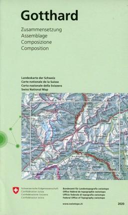 Swisstopo 1 : 50 000 Gotthard