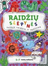 Raidžių slėpynės: spalvinimo knygelė 5–7 metų vaikams