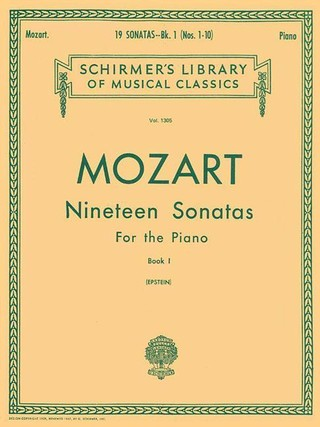 19 Sonatas - Book 1: English/Spanish Schirmer Library of Classics Volume 1305 Piano Solo
