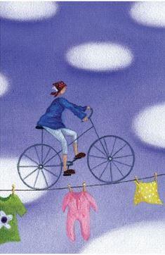Bloknotas su dviračiu