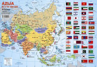 Azijos politinis žemėlapis (A 4)