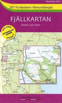 Fjällkartan 1 : 50 000 Z57 Funäsdalen - Ramundberget Wanderkarte