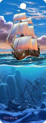 """3D Knygų skirtukas """"Burinis laivas"""""""