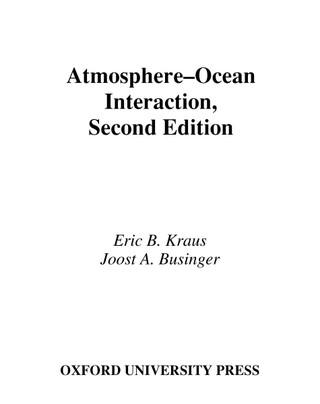 Atmosphere-Ocean Interaction