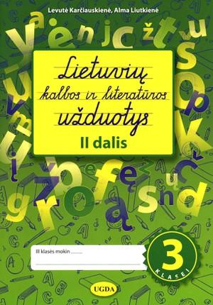 Lietuvių kalbos ir literatūros užduotys 3 klasei. 2 dalis