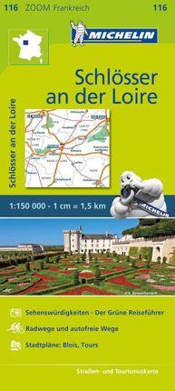 Michelin Zoomkarte Schlösser an der Loire 1 : 150 000