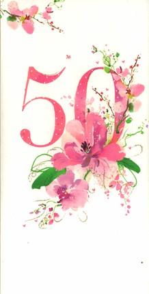 Dvigubas atvirukas su tekstu (50-tojo gimtadienio proga)