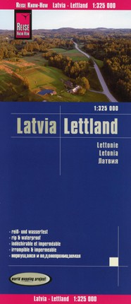 Reise Know-How Landkarte Lettland 1 : 325 000