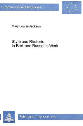 Style and Rhetoric in Bertrand Russels's Work