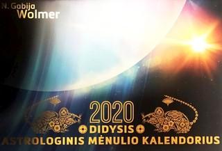 Didysis astrologinis 2020 m. Mėnulio kalendorius